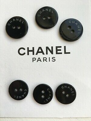 CHANEL Logo 15mm And 18mm Black Logo Extra Buttons Sew On 6 3  • 17.99£
