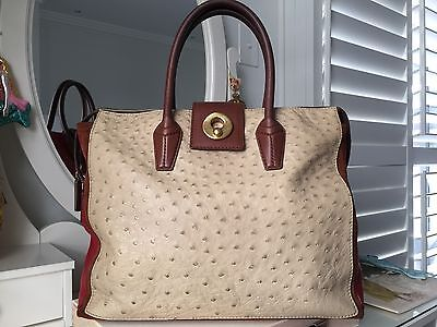 Yves Saint Laurent Muse Two Cabas Color Block Leather Tote Bag RRP$5500 • 1,599.58£