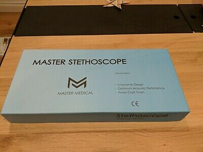 Brand New Master Stethoscope For Cardiology In Black Similar To Littmann • 25£