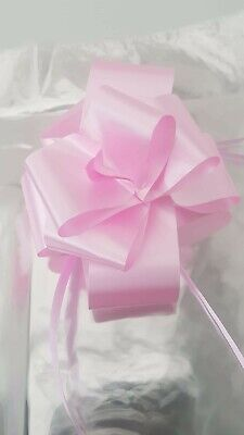 £3.50 • Buy 1 X Extra Large Clear Cellophane Hamper Bag  With Pink Bow Baby Girl Christmas