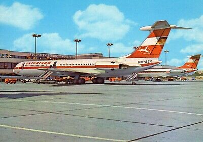 Interflug Il-62 Dm-seh At Flughafen Berlin-schonefeld Airline Issued Postcard  • 1.99£