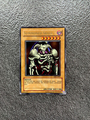YuGiOh Summoned Skull Ultra Rare MRD-E003 Very Near Mint Metal Raiders OG Print • 45£