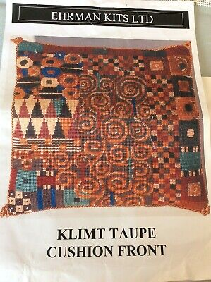 Ehrman Tapestry Kit , Klimt Cushion Front In Taupe By Candace Bahouth ,2005. • 55£