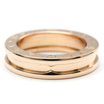 AU1045 • Buy Polished BVLGARI B-ZERO1 Ring XS Size #49 US 5 18K Pink Gold PG BF521082