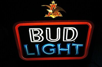 $ CDN52.25 • Buy ANHEUSER BUSCH BUD LIGHT LIGHT UP SIGN VINTAGE 1980s WORKS WELL NO CRACKS
