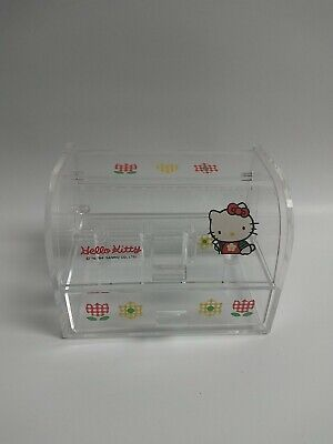 £29.09 • Buy Sanrio Hello Kitty Clear Plastic Jewelry Box For Earrings And Rings Drawer 1994