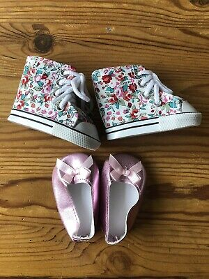 """CHRISTMAS 18"""" Inch Doll Boots And Shoes 2 Pairs American Girl Our Generation DF • 2.99£"""