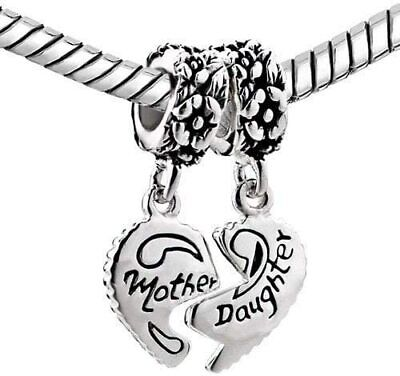 Pandora I Love You Bracelet Bead Charm Silver My Mum Heart Mother Daughter Gift • 8.99£