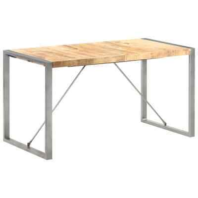 £144.99 • Buy VidaXL Solid Rough Mango Wood Dining Table Kitchen Dinner Table Furniture