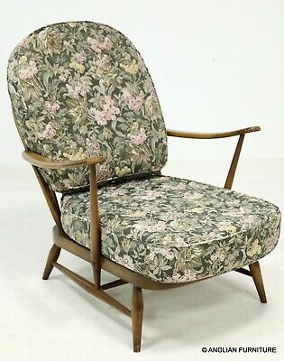 Ercol Windsor Easychair Low Armchair Floral Upholstery FREE UK Delivery • 387£
