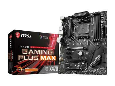 AU170.40 • Buy MSI PERFORMANCE GAMING X470 GAMING PLUS MAX AM4 AMD X470 SATA 6Gb/s ATX