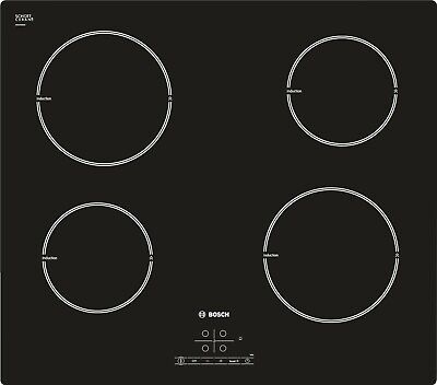 Bosch PIA611B68B Induction Hob Black Glass Integrated Kitchen Appliance Home • 250£