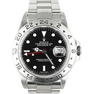 $ CDN8202.77 • Buy MINT 2001 Rolex Explorer II 16570 Stainless 40mm GMT Automatic Black Dial SEL