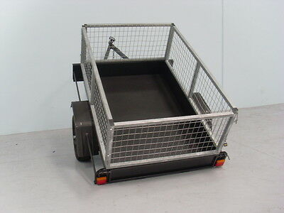 AU990 • Buy 6x4 Box Trailer With 2ft Galvanized Cage | Brand New Tyres | Australian Made