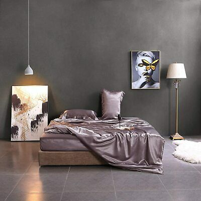 AU115.89 • Buy Shrinkage&Fade Resistant Luxury Silk Sheet Bedding Set 4 Pcs-Ultra Soft, Durable