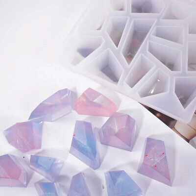 3D Crystal Irregular Stone Silicone Mold Epoxy Resin Jewelry Making DIY Crafts • 5.81£