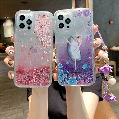 AU17.77 • Buy For OPPO Phone Case Bling Women Soft Liquid Quicksand Covers With Crystal Chain
