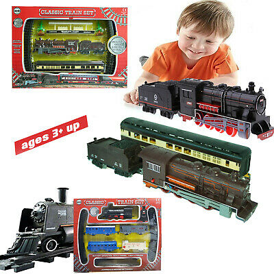 £14.98 • Buy 3M Classic Train Track Kids Toy Retro Light Sound Battery Operated Gift Xmas New