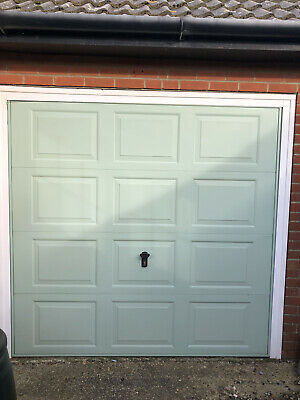 Electric Up & Over Garage Door, & Surround Chartwell Green By Everest • 85£