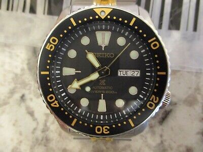 $ CDN620.66 • Buy Mod Seiko SKX007 SRP775 Black Gold Strapcode 42mm Jubilee Automatic Diver Watch