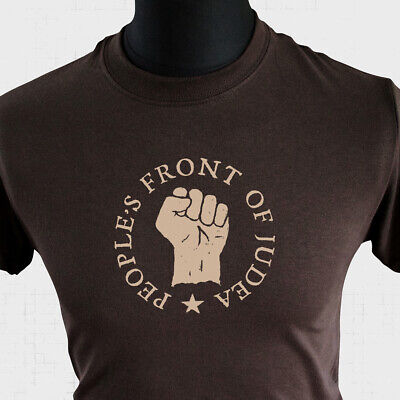 £10.99 • Buy Peoples Front Of Judea Life Of Brian T Shirt 80's Monty Python Joke Cool Brown