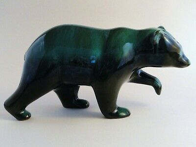 $ CDN47.99 • Buy Blue Mountain Pottery Grizzly Bear Large Sculpture Teal Black Glaze