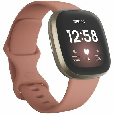 AU299 • Buy Fitbit Versa 3 Smart Fitness Watch Pink And Gold