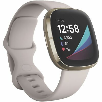 AU299 • Buy Fitbit Sense Smart Fitness Watch White And Gold