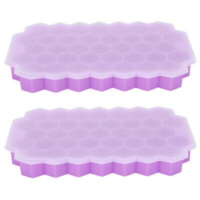 Silicone Ice Block Tray Ices Jelly Maker Mold With Lid For Whisky Cocktail Kit • 9.48£