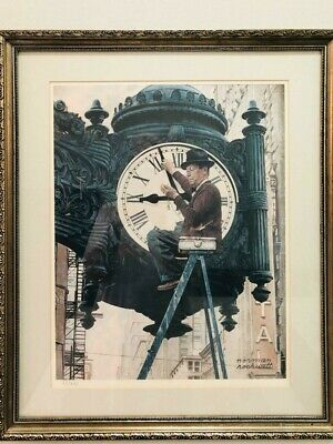 $ CDN497.46 • Buy Norman Rockwell  The Clock Mender  Lithograph Signed 87/250 VINTAGE!