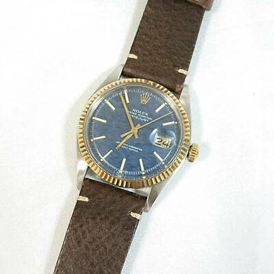 $ CDN6585.64 • Buy Rolex Watch 1601 Dayjust Mosaic Automatic-winding  Blue Dial Men's Vintage
