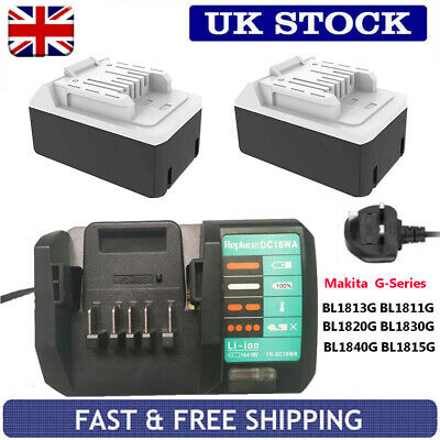 Rechargeable Replace Makita 18V G-Series BL1820G BL1830G BL1840G Battery BL1813G • 93.90£