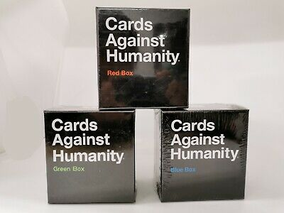 AU29.99 • Buy Cards Against Humanity Expansion Bundle - Blue Red Green Expansion Boxes