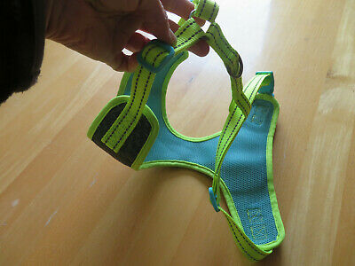 Pets At Home, 3 Peaks, Turquoise And Neon Yellow,medium, Dog Harness.  • 4£
