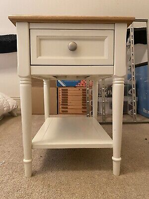 Marks And Spencer Greenwich Sidetable Cream With Oak Top • 150£