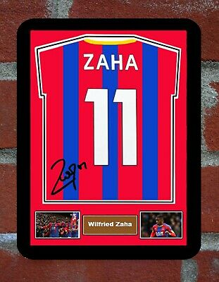Framed  Shirt Signed Wilfried Zaha Crystal Palace  Metal Sign  Man Cave • 8.45£