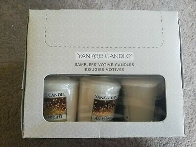 YANKEE CANDLE  Box Of 18 Votive Sampler Candles (ALL IS BRIGHT)  • 4.82£