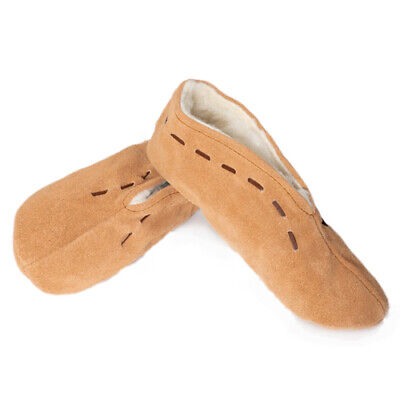 £16.95 • Buy Woman. Spanish Slippers Moccasin Shoes Real Leather Suede Warm Fur Lined Uk2-uk9