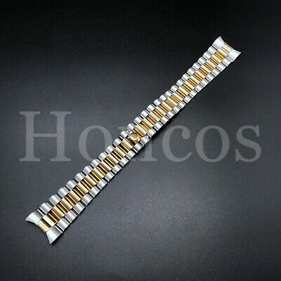 $ CDN35.28 • Buy President Steel/gold Watch Band Bracelet For Rolex Datejust 20mm Stainless St