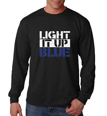 £12.03 • Buy Long Sleeve Light It Up Blue Shirt Autism Awareness Fathers Day Christmas Gift