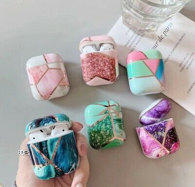 AU9.95 • Buy Marble Geometric Design Shockproof Protective For Apple Airpods 1/2 & Pro Case