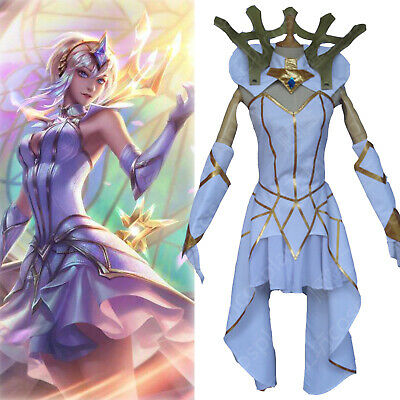 $ CDN72.48 • Buy LOL Lux Cosplay Costume Game Outfit Fancy Dress + Headwear S