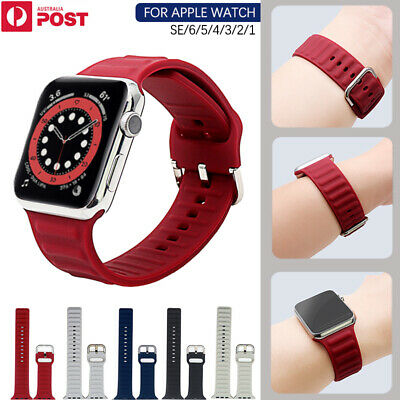AU13.99 • Buy For Apple Watch Band Series SE 6 5 4 3 2 1 Sport Silicone 38/40 42/44mm Strap
