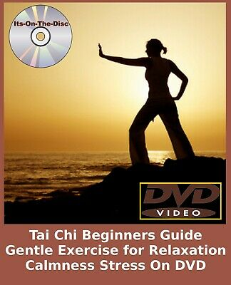 Tai Chi Beginners Guide Gentle Exercise For Relaxation Calmness Stress On DVD • 2.79£