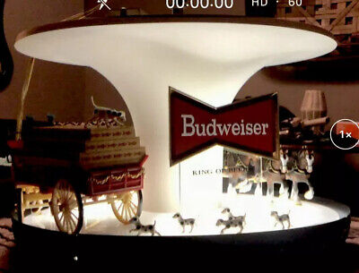 $ CDN627.19 • Buy Vintage Budweiser Beer Clydesdale Parade Rotating Carousel Bar Light Sign