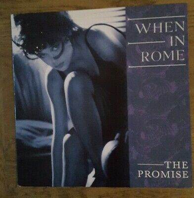 THE PROMISE 12  SINGLE .... Rare 80's Synth Pop By ' When In Rome '..TENX 244 • 20£
