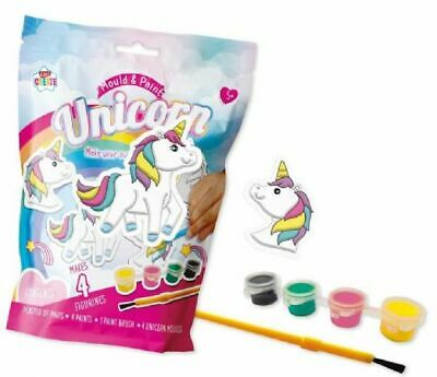 £4.29 • Buy 2 X Make Your Own Unicorn Figurines!! Mould & Paint,  Free P&p