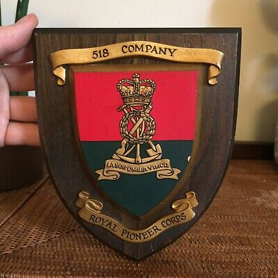 Royal Pioneer Corps Regimental Mess Wall Plaque Shield British Army 518 Company • 25£