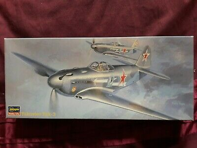 Hasegawa 1/72 Yakovlev Yak-3 WWII Soviet Fighter, Decals For 2, Parts Sealed • 6.50£