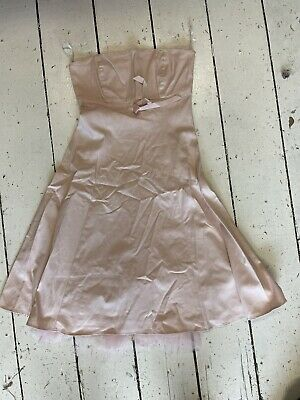 00s Y2k Baby Pink New Look Babydoll Dress Size 10 • 5£